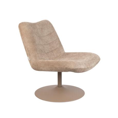 Zuiver Lounge stoel Bubba beige textiel 67x81x85cm