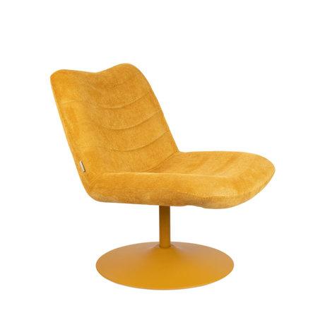 Zuiver Lounge stoel Bubba oker geel textiel 67x81x85cm