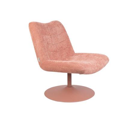 Zuiver Lounge stoel Bubba roze textiel 67x81x85cm