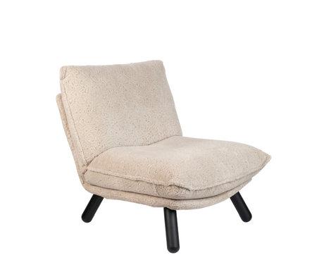 Zuiver Lounge stoel Lazy Sack Teddy créme textiel 75x94x81cm
