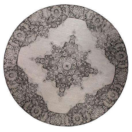 Zuiver Vloerkleed Outdoor Coventry Round zwart textiel Ø280cm