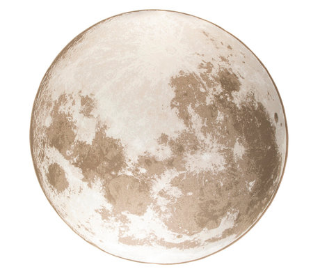Zuiver Vloerkleed Outdoor Moon soft latte beige textiel Ø200cm