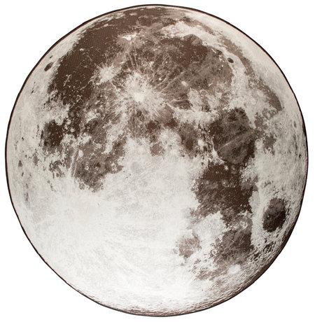 Zuiver Vloerkleed Outdoor Moon stone grijs textiel Ø200cm