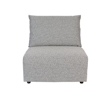 Zuiver Bank element Outdoor Breeze grijs textiel 90x118x86cm