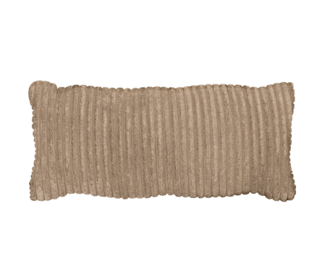 WOOOD Kussen Bean Rib Beige Polyester 70x20x30cm