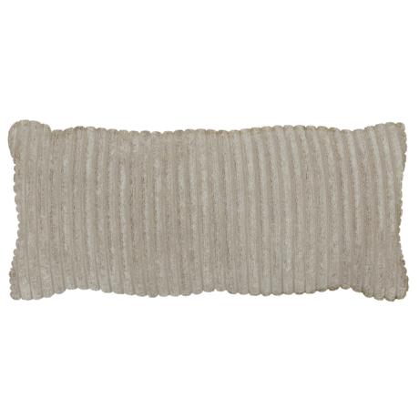 WOOOD Kussen Bean Rib Licht Grijs Polyester 70x20x30cm