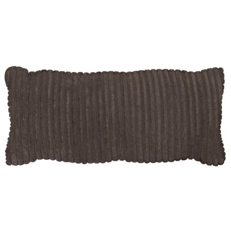 WOOOD Kussen Bean Rib Donker Bruin Polyester 70x20x30cm