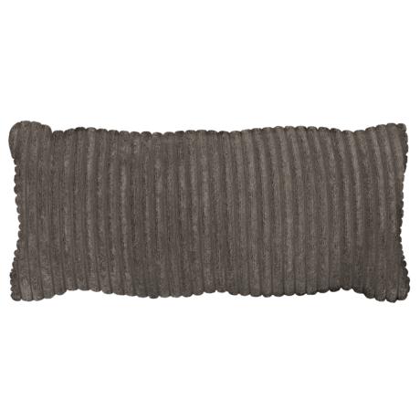 WOOOD Kussen Bean Rib Donker Grijs Polyester 70x20x30cm
