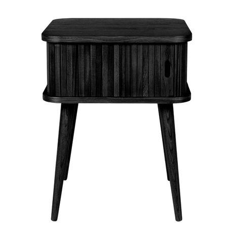 Zuiver Sidetable Barbier zwart eikenhout 45x45x59cm