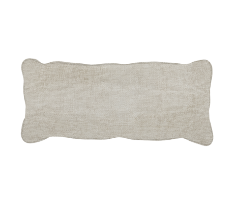 WOOOD Kussen Bean Melange Creme Polyester 20x70x30cm