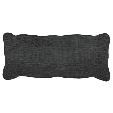 WOOOD Kussen Bean Melange Donker Grijs Polyester 20x70x30cm