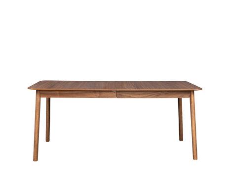 Zuiver Eettafel uitschuifbaar Glimps bruin notenhout 180/240x90x76cm