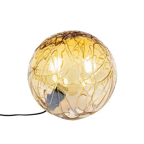 Dutchbone Tafellamp Lune Geel Glas Ø40x39cm