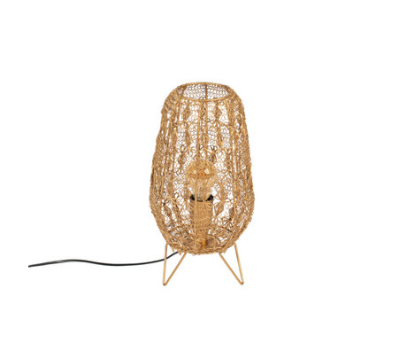 Dutchbone Tafellamp Filo S Goud Metaal 18x18x35,5cm