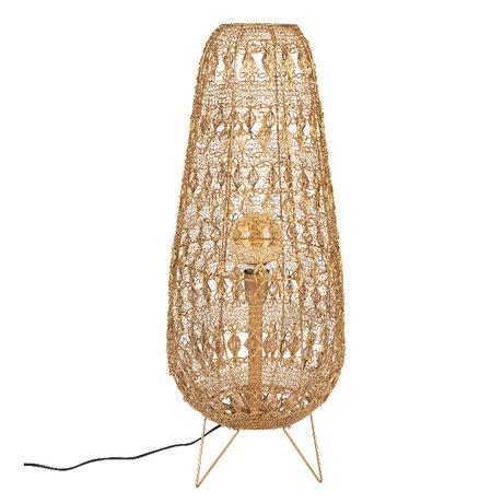 Dutchbone Tafellamp Filo L Goud Metaal 32x32x80cm