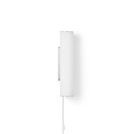 Ferm Living Wandlamp Vuelta Wit Zilver Opaal Glas Ø8,4x40cm