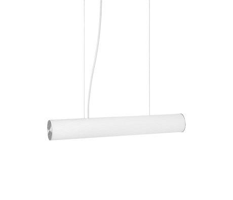 Ferm Living Hanglamp Vuelta Wit Zilver Opaal Glas Ø8,4x60cm