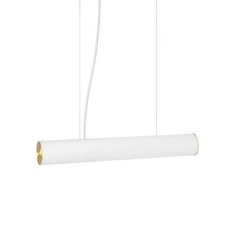 Ferm Living Hanglamp Vuelta Wit Goud Opaal Glas Ø8,4x60cm