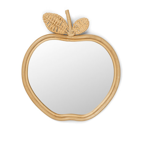 Ferm Living Spiegel Apple Naturel Rotan 37x42x3cm