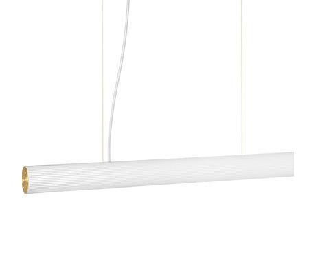 Ferm Living Hanglamp Vuelta Wit Goud Opaal Glas Ø8,4x100cm