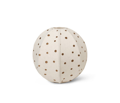 Ferm Living Lampenkap Dots Creme Bruin Katoen Staal Ø35x35cm