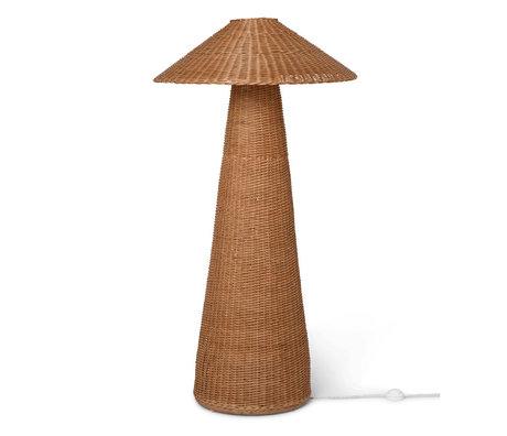 Ferm Living Vloerlamp Dou Naturel Rotan Ijzer Ø71x131cm