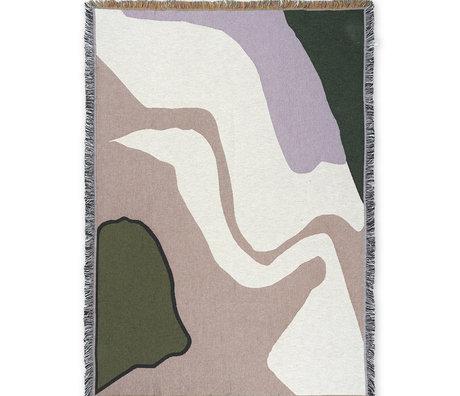Ferm Living Lebende Decke Vista Multicolor Cotton 120x170cm