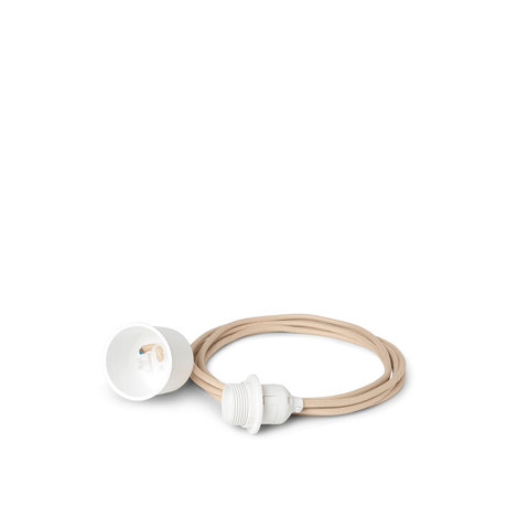 Ferm Living Snoer Set Hanglamp 4m Beige Wit Textiel Ø0,5x0,5cm