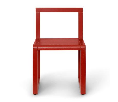 Ferm Living Kinderstoel Little Architect Rood Essenhout 32x30x51cm