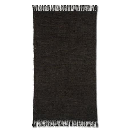 Ferm Living Vloerkleed Melange Donker Bruin Katoen 60x100cm
