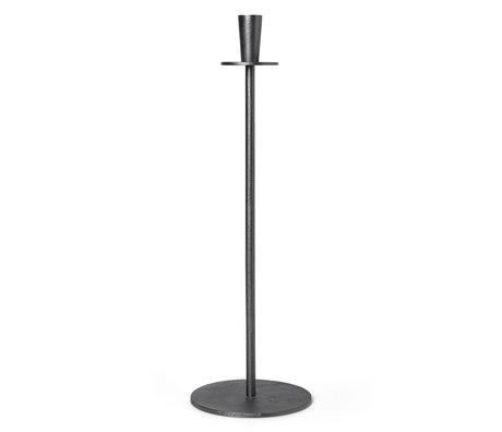 Ferm Living Kandelaar Hoy Casted Hoog Zwart Aluminium Ø23x86cm