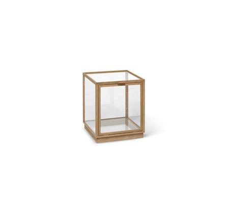Ferm Living Vitrinekast Element Naturel Eikenhout Glas 40x40x42cm