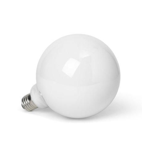 Ferm Living LED Lamp Opal Wit Opaal Glas Ø12,5x17,5cm