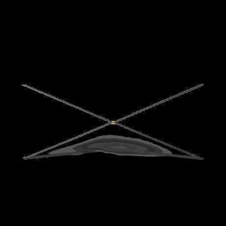 Ferm Living Kast Element Punctual Kruis Antraciet Gepoedercoat Staal 93x1,6x40cm