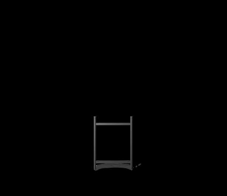 Ferm Living Kast Element Punctual  Ladder 2 Antraciet Gepoedercoat Staal 2x42x55cm