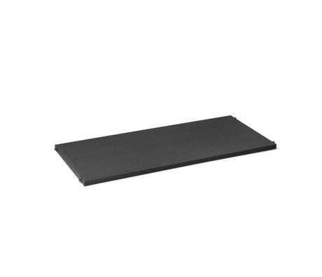 Ferm Living Kast Element Punctual Plank Geperforeerd Antraciet Gepoedercoat Staal 90x39,6x2,3cm