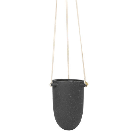 Ferm Living Hangende Pot Speckle Klein Donker Grijs Keramiek Ø13,5x18,5cm