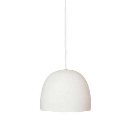 Ferm Living Hanglamp Speckle Groot Creme Keramiek Ø30,5x24,9cm