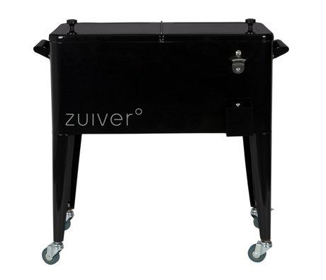 Zuiver Verrijdbare Koelbox Be Cool Zwart Gepoedercoat Staal  91x39x84,5cm
