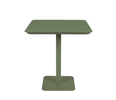 Zuiver Outdoor Bistro Tafel Vondel Groen Metaal 71x71x75cm