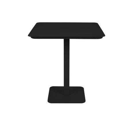 Zuiver Outdoor Bistro Tafel Vondel Zwart Metaal 71x71x75cm