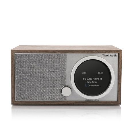 Tivoli Audio Tafel Radio Model One Digital Generation 2 Bruin Grijs Hout 11,4x22,1x13,9cm