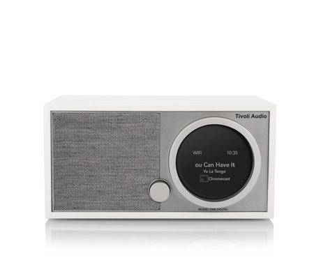 Tivoli Audio Tafel Radio Model One Digital Generation 2 Wit Grijs Hout 11,4x22,1x13,9cm