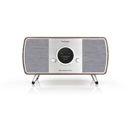 Tivoli Audio Audio Radio Music System Home Bruin Grijs Hout (17,7 exl. poten )22,1x41x16,5cm