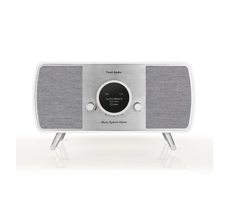 Tivoli Audio Audio Radio Music System Home Wit Grijs Hout (17,7 exl. poten )22,1x41x16,5cm