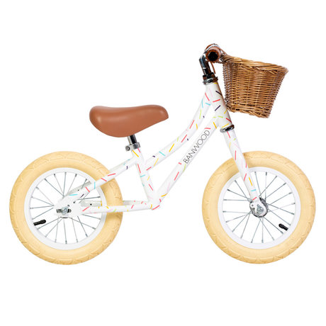 Banwood Kinderloopfiets By Marest First Go Allegra Wit Multicolour 65x20x41cm