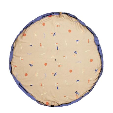Play & Go Outdoor Storage Bag / Play Mat Sea Multicolor Cotton ø140cm