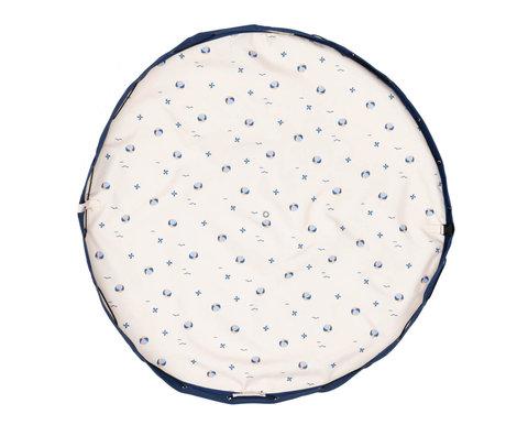 Play & Go Outdoor Storage Bag / Play Mat Balloon Cream Blue Cotton ø140cm