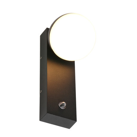 Steinhauer  Outdoor Wandlamp Simara Zwart LED Metaal 6x12x20cm