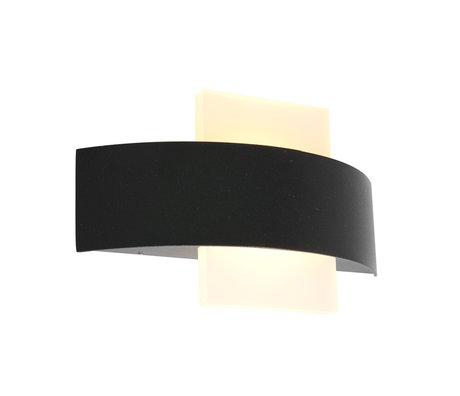 Steinhauer  Outdoor Wandlamp Cebu Half Rond LED Zwart Metaal 24x6x14,2cm